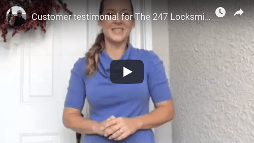 the 247 Locksmith testimonial